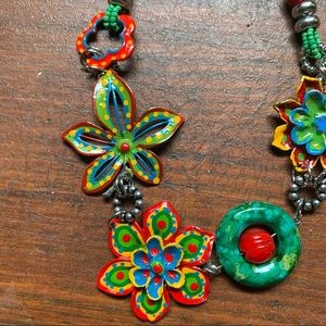 Colorful Metal Beaded Necklace